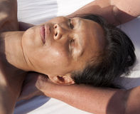 Japanese facial massage Royalty Free Stock Photography