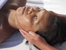Japanese facial massage Royalty Free Stock Images