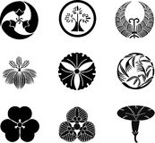 Japanese Family Crests stock illustration