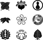 Japanese Family Crests Royalty Free Stock Images
