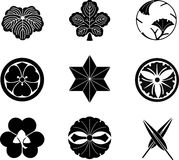 Japanese Family Crests Royalty Free Stock Photography