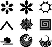 Japanese Family Crests Stock Image