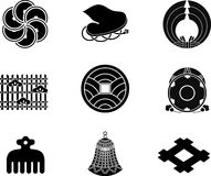 Japanese Family Crests Stock Photography