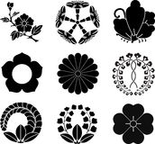 Japanese Family Crests royalty free illustration
