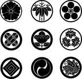 Japanese Family Crests. #1 (vector illustration stock illustration