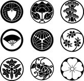 Japanese Family Crests. #2 (vector illustration stock illustration