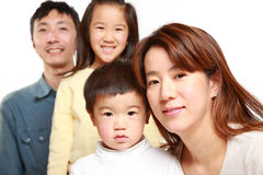 Japanese Family Of Four Royalty Free Stock Photography