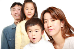 Japanese Family Of Four Stock Photos