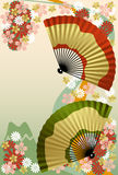 Japanese Fan. Japanese traditional graphic. Japanese Fan Royalty Free Stock Image