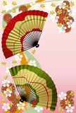 Japanese Fan. Japanese traditional graphic. Japanese Fan Stock Photo