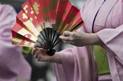 Japanese fan Stock Images