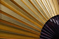 Japanese fan in gold and black stock photos