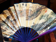 Japanese fan range blue color symbols Stock Photography