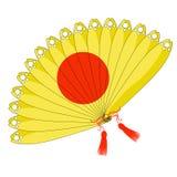 Japanese fan of with sunshine. vector illustration Stock Photo