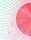 Japanese Fan with Symbol of Japan. Japanese background of Japanese fan Stock Image