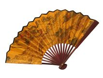 Japanese fan on white background Royalty Free Stock Photo