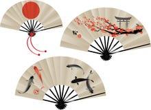 Japanese fans set Stock Image