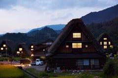 Japanese farm house. In Shiragawa-go village, Japan Royalty Free Stock Photos