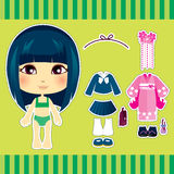 Japanese Fashion Girl. Sweet and cute japanese fashion girl clothes collection set Stock Images