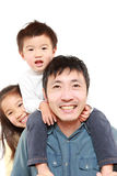 Japanese father and his children Royalty Free Stock Photos