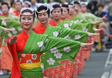 Japanese Festival Dancers Royalty Free Stock Photos