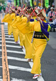 Japanese Festival Dancers Stock Photos
