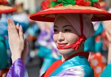Japanese Festival Dancers Stock Photography
