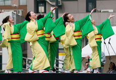 Japanese Festival dancers Stock Photo