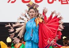 Japanese Festival dancers Stock Photos