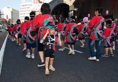 Japanese Festival Dancers Stock Photography