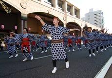 Japanese Festival Dancers Royalty Free Stock Photo