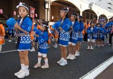 Japanese Festival Dancers Stock Photo