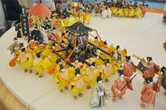 Japanese festival dolls Stock Images