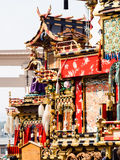 Japanese festival floats on the street Royalty Free Stock Images