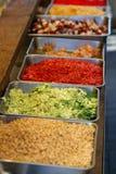 Japanese festival food. Traditional Japanese festival food ingredients for takoyaki Stock Image