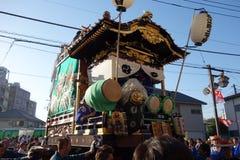 "Japanese festival ""Omatsuri"". Dashi parade became the main feature of Kawagoe Matsuri Royalty Free Stock Photo"