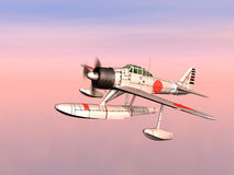 Japanese Fighter Bomber. Computer generated 3D illustration with a Japanese Fighter Bomber from the second world war Stock Photos
