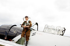 Japanese Fighter Pilot Royalty Free Stock Photo