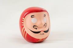Japanese figurine. Head samurai! On white background Royalty Free Stock Photography