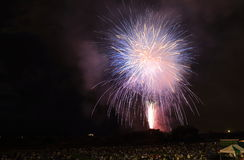 Japanese fireworks summer festival Kanazawa Japan Royalty Free Stock Images
