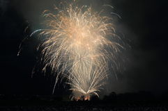 Japanese fireworks summer festival Kanazawa Japan Royalty Free Stock Photography