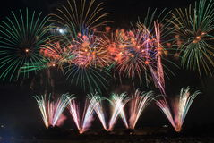 Japanese fireworks summer festival Kanazawa Japan Stock Photo