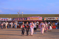Japanese fireworks summer festival Kanazawa Japan Stock Photos