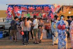 Japanese fireworks summer festival Kanazawa Japan Royalty Free Stock Photography