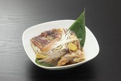 Japanese fish dish. Japanese cuisine head sea bream stock photography