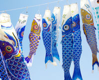 Japanese Fish Kites Stock Photo