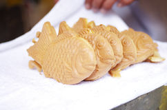 Japanese fish-shaped cake. Taiyaki Royalty Free Stock Photography