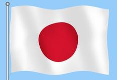 Japanese flag. 3D Japanese flag Stock Illustration