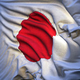 Japanese flag, fluttering Stock Photos