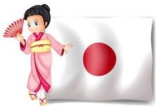 Japanese flag Stock Photography